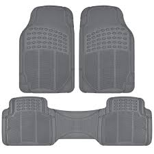 4 PC Set Auto Floor Mats Car Truck SUV Gray Semi Custom Trimmable W ... Bestfh Black Blue Car Seat Covers For Auto With Gray Floor Mats All Weather Shane Burk Glass Truck Metallic Rubber Red Suv Trim To Fit 4 Gogear Mat Set 4pc Fullsize Vehicles Vehicle Neoprene Care Products 4pc Universal Carpet W Us 4pcs Suv Van Custom Pvc Front 092014 F150 Husky Whbeater Rear Buffalo Tools 48 In X 72 Bed Utility Mat2801 The New 4pcs For 7 Colors With Free Luxury Parts Leather