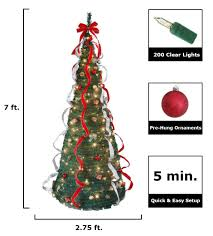 75 Ft Christmas Tree by 5 Ft Pop Up Christmas Tree Christmas Lights Decoration