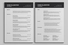 100 Resume Two Pages Classic CV Template By SNIPESCIENTIST On
