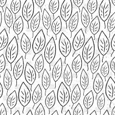 Seamless Pattern With Stylized Leaves Outline Black And White Royalty Free Vector Clip Art Sea Battle Board Game
