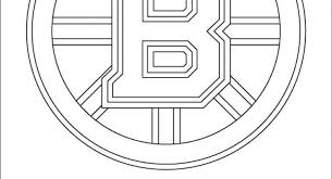 Boston Bruins Printable Coloring Pages Cool Logo Page