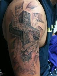 Cross Tattoos For Men Shoulder Male Arm Tattoo Gallery Upper