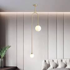 moderne glas pendelleuchte kugel design für wohnzimmer