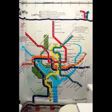 Subway Map Shower Curtain