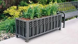 Spencer Series Powder Coated Steel Rectangular Planter
