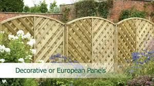 Decorative Garden Fence Panels by Fence Panels Explained Youtube