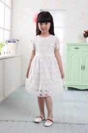 white lace dresses for girls sash summer dress kids fashion