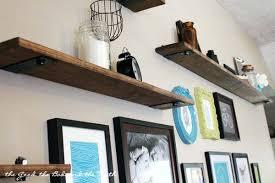 Shelves For Living Room Rustic Industrial Diy Gallery Wall