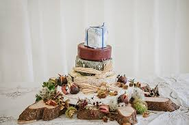 Cheese Stack Tower Cake Relaxed Rustic Autumn Barn Wedding Karenflowerphotography