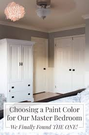 choosing a paint color for our master bedroom we finally