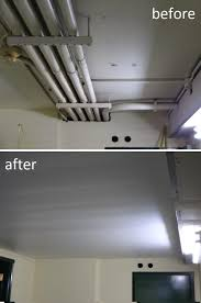 Installing Drywall On Ceiling In Basement by Pvc Ceiling Paneling System Provides Alternatives To Drywall Or