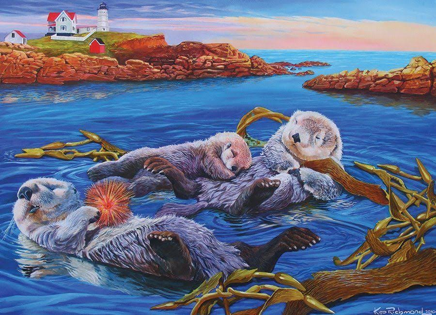 Cobble Hill Sea Otter Family Jigsaw Puzzle
