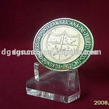 Clear Acrylic Coin Medal Display Base Prize Stand Holder