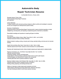 Bunch Ideas Of Auto Body Repair Resume Objective Automotive Technician Samples Examples