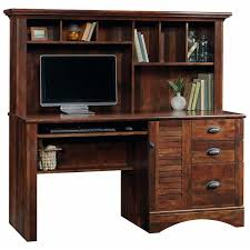 Cymax Desk With Hutch by Sauder Harbor View Computer Desk With Hutch In Curado Cherry 420475