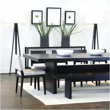 Black Dining Table Bench Wood And Chairs Beauteous Decor Lovely