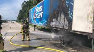 100 Bud Light Truck Beer Safe After Truck Catches Fire In Florida