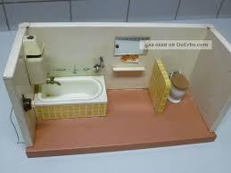 puppenbad puppenstube badezimmer 50er jahre blech