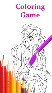 Coloring Book For Winx Screenshot