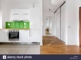 100 Modern Kitchen For Small Spaces Open Space With Small Modern Kitchen In New Flat Stock Photo