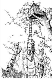 Coloring Page Treehouse