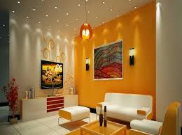 Wall Colour Combination For Small Living Room Photo