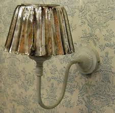 shabby chic metal wall light with vinatage style