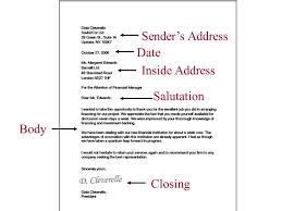 Business Letters Sender s Address Date Inside Address Salutation