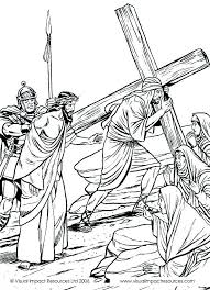Jesus At The Cross Bible Coloring Page