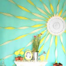 YellowWhite Theme Background Wall Party Decorations 40cm Cut Out Paper Fan10m Crepe