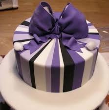 finishing purple bow Talk Sweet to Me …