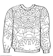 Ugly Sweater Coloring Pages 8