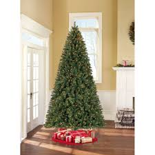 Artificial Christmas Tree Stand Walmart by Holiday Time Pre Lit 9 U0027 Woodlake Spruce Artificial Christmas Tree