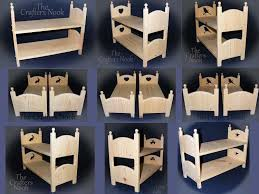 Badger Basket Doll Bed by Bunk Beds American Doll Yellow Bunk Bed How To Make An