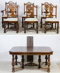 Lot 54: Jacobean Style Mahogany Dining Table And Chairs; Six ... 6 Antique Berkey Gay Depression Jacobean Walnut Ding Room Table And Four Chairs With Bench Luxury Wood Set Of Eight Solid Carved Oak 1930s Or Gothic Style Kitchen Design Sets This Is Fantastic A Superb Large Oak Refectory Table Size 121 X 242cm Togethe Lovely Top Result 50 Pair Ethan Allen Royal Charter Side Early 20th Century Revival Lot 54 Mahogany Six Jacobean Chair Artansco