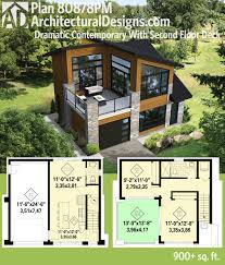 100 Contemporary Houses Plans Plan 80878PM Dramatic With Second Floor Deck Tiny