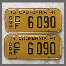 1947 California YOM License Plates For Sale - Original Vintage Pair ... Manitoba 1983 Natural Truck Plates Pair Natu Flickr Confederate Flag License Plates More Popular In Tennessee Time An Old Rusted Truck With California License Plates Stock Photo 1953 Gmc 2ton Flatbed Original Yellow Clear Ets2 Custom Name Youtube Group Special Department Of Revenue Motor Vehicle Filenew Jersey 1958 Farm License Plate Woody1778a Home 1968 Texas Truck Pair 1x5842 Nos Unissued Untitled Registration Plate Wikipedia