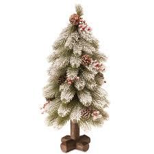 Multicolored Snowy Bayberry 24 Inch Cedar Christmas Tree