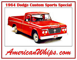 100 1964 Dodge Truck Custom Sport Special Laptimes Specs Performance Data