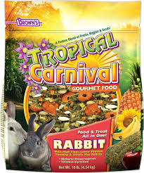 Can Rabbits Eat Pumpkin Seeds by Brown U0027s Tropical Carnival Rabbit Food 10 Lb Bag Chewy Com
