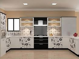 Coffee Themed Kitchen Decor With White Cabinet And Brown Wall Paint
