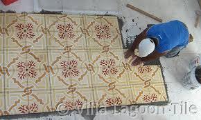 how to install cement tiles villa lagoon tile