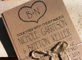Initials And Heart Wedding Invitation Set Rustic Invites