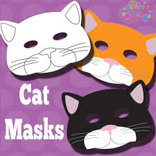 Printable Cat Mask And Template To Color