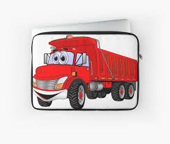 100 Red Dump Truck 3 Axle Cartoon Laptop Sleeves By Scott Hayes Bubble