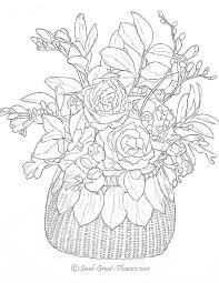 Coloring Books Flowers Download Advanced Flower Pages Page