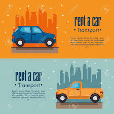 100 City Rent A Truck Car Infographic With Vehicles Nd Skyline Behind