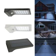 solar power wireless rechargeble battery led security wall spot