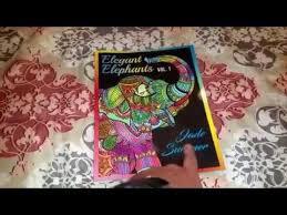Jade Summer Elegant Elephants Adult Coloring Book Review