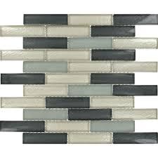 MSI Cielo Brick 12 in x 12 in x 8 mm Glass Mesh Mounted Mosaic